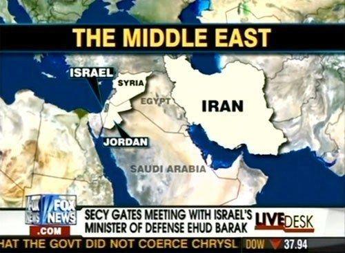 Fox News map of Egypt