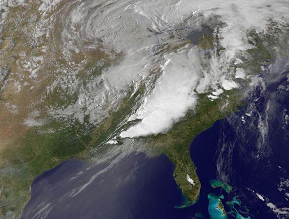 Satellite image at 8:15pm EDT April 27, 2011