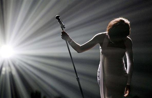 Whitney Houston takes a bow