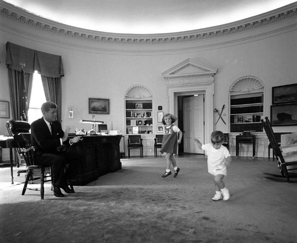 JFK with Caroline and John-John