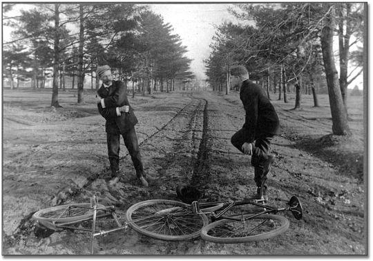 Vintage Bicycle Crash