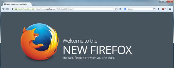 Welcome to the New Firefox