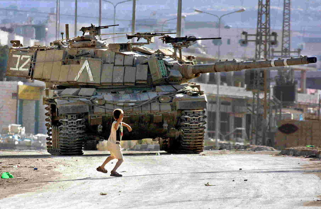 Boy vs. Israeli Magach