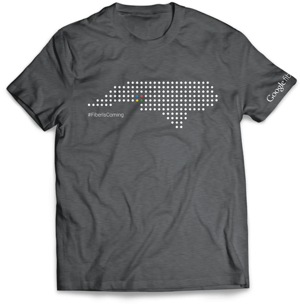 Google Fiber is Coming t-shirt