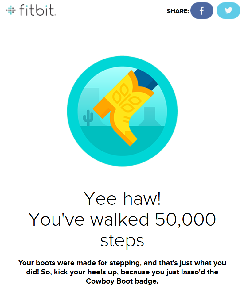 Fitbit - Cowboy Boot Badge